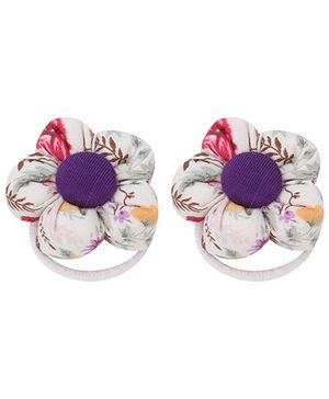 De Berry Flower Rubber Band - White