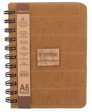 Bilt Natural A6 Ruled Notebook - 160 Pages