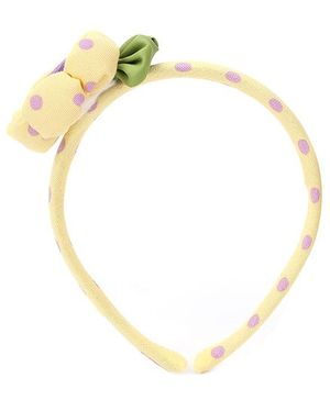 De Berry Big Flower Hair Band - Yellow