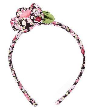 De Berry Big Flower Hair Band - Black