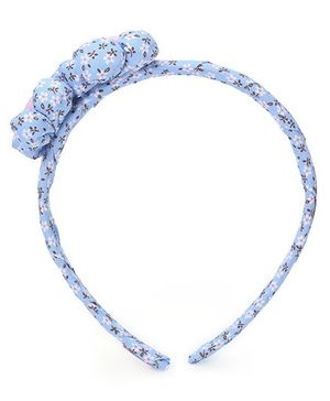 De Berry Twin Flower Hair Band - Blue