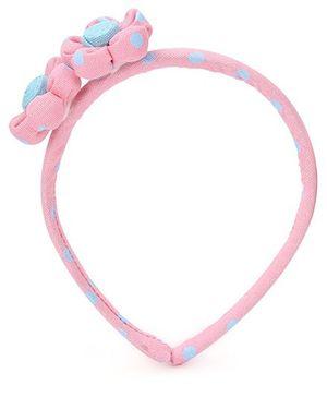 De Berry Twin Flower Hair Band - Pink
