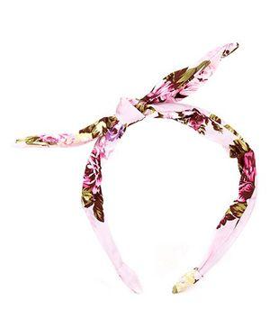 De Berry Leaf & Flower Print Hairband - Pink