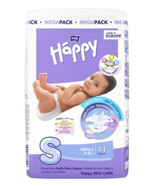 Bella Baby Happy Diapers Small - 44 Pieces