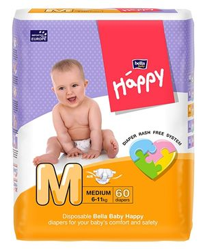 Bella Baby Happy Diapers Medium - 60 Pieces