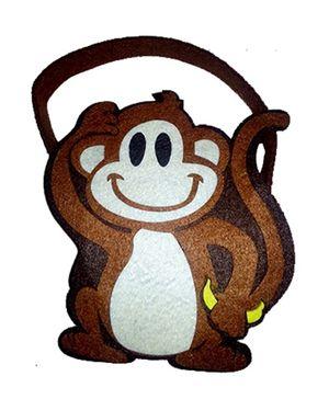 Planet Jashn Monkey Shaped Felt Bag - 1 Piece