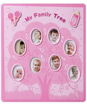 My Family Tree Print Photo Album - Pink