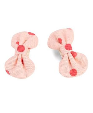 De Berry Dot Print Hair Clip - Pink
