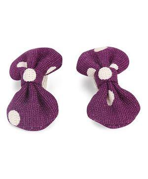 De Berry Dot Print Hair Clip - Purple