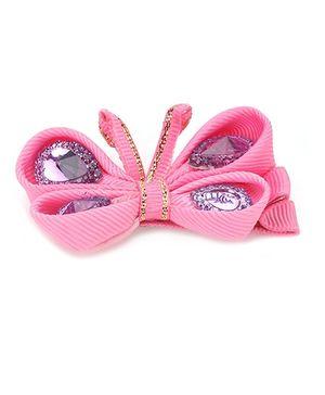 Angel Closet Butterfly Hair Clip - Pink
