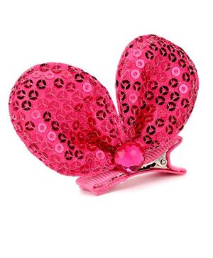 Angel Closet Sequinned Hair Clip - Pink