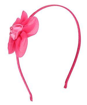 Angel Closet Rose Hairband - Dark Pink