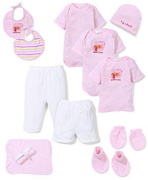 Babyhug My Best Friend Print Baby Gift Set - Pink