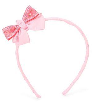 Anaira Hair Band With Bow - Peach