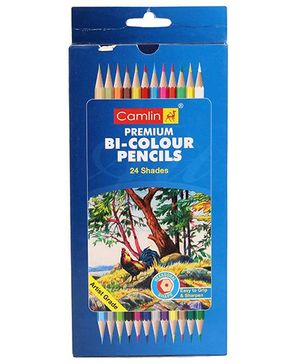 Camel Premium Bi-Colour Pencil - 24 Shades