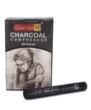 Camel Compressed Charcol Sticks Black - 20 Pieces