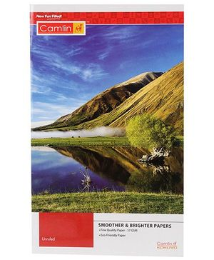 Camlin Extra Long Unruled Notebook - 152 Pages