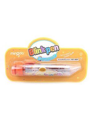 Playmate 8 in 1 Glitter Gel pen - Orange
