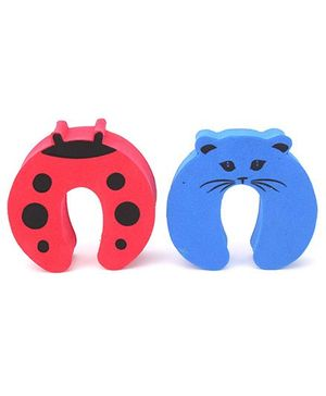 Cutez Door Guards Medium Red and Blue - Pack of 2