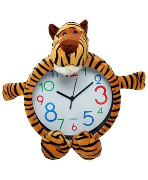 Wall Clock - Tiger Shape Brown & Black