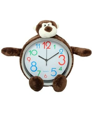 Wall Clock - Monkey Shape Brown