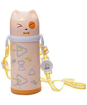 Fab & Funky Triangle Water Bottle - Cream