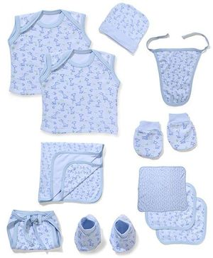 Babyhug Infant Clothing Set Blue - 10 Pieces