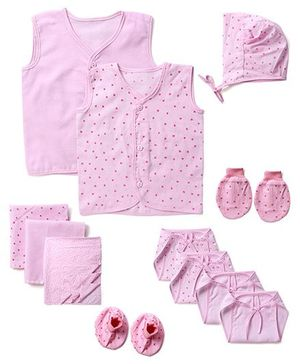 Babyhug Starter Set Pink - Pack Of 12