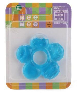 Mee Mee Multi Textured Water Filled Teether Flower Shape - Blue