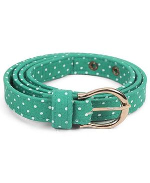 De Berry Dot Print Belt - Green
