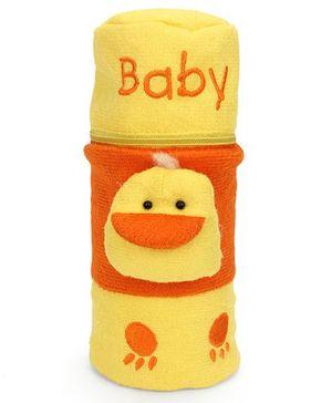 Babyhug Bottle Cover With Zipper & Duck Motif Large - Yellow