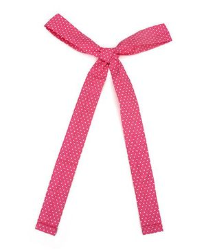 De Berry Dot Print Headband - Light Pink