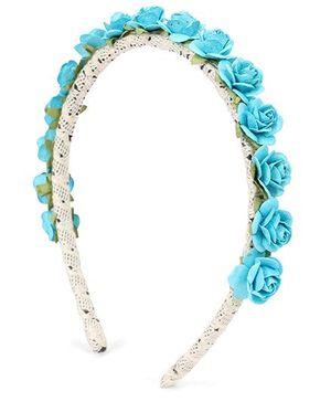 Sweet Berry Rose Hair Band - Blue