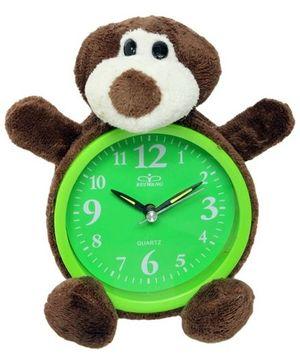 Wall Clock - Monkey Shape Brown & Green