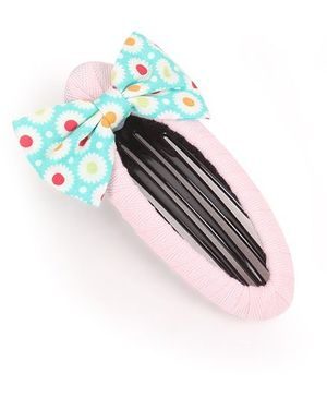 Clip Case Snap Clip With Bow - Pink & Green