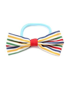 De Berry Printed Bow Rubber Band - Multicolour