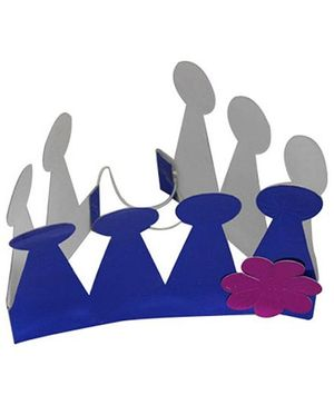 Partymanao Paper Crown Blue - Pack Of 5