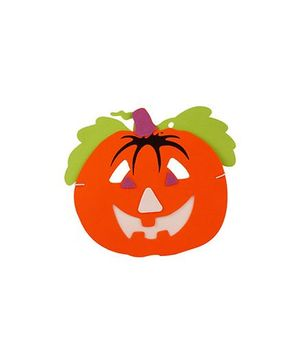Partymanao Pumpkin Design Thin Sponge Mask  Orange - Pack Of 5