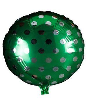 Partymanao Polka Dot Foil Balloon - Green