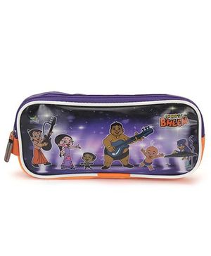 Chhota Bheem Pencil Pouch - Purple & Orange