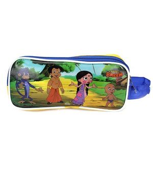 Chhota Bheem Pencil Pouch - Yellow & Blue