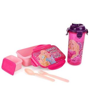 Barbie Lunch Box And Tumbler - Pink Purple