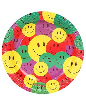 Karmallys Paper Plates Smiley Print Pack of 10 - Multi Color