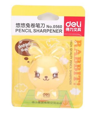 Deli Rabbit Shape Pencil Sharpener - Yellow