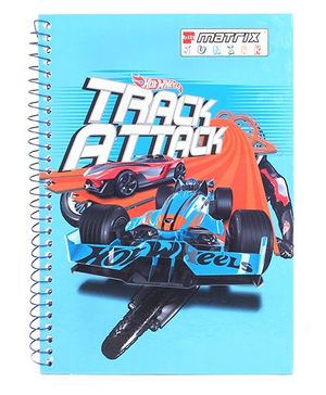 Bilt Matrix Premium Spiral Binding Notebook Hotwheels Print - 160 Pages