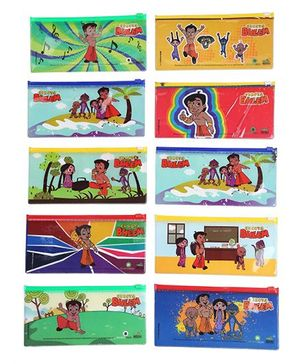 Chhota Bheem Single Side Printed Pencil Pouch - Pack of 10