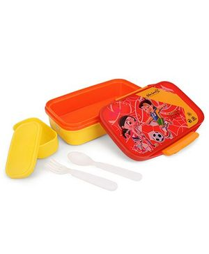 Chhota Bheem Insulated Lunch Box - Red & Yellow