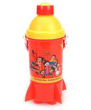 Chhota Bheem Rocket Base Water Bottle - Red & Yellow