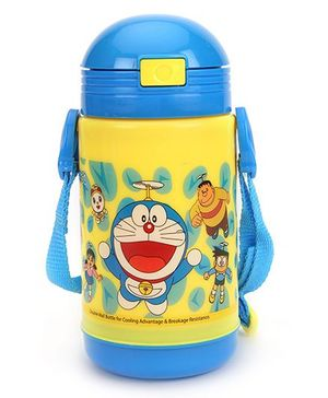 Doraemon New Insulated Water Bottle - Blue & Yellow