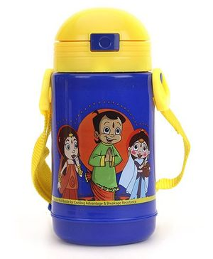 Chhota Bheem New Insulated Water Bottle - Blue & Yellow
